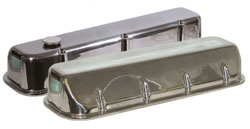 Xtreme Series Valve Covers, Polished, 1 Hole Machined with Billet Oil Plug