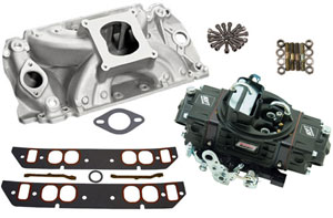 HP 500 Style Intake/Carburetor Package with Satin Intake - Oval Port