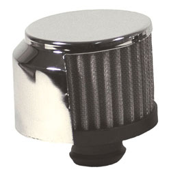 Push-In Filtered Valve Cover Breather With Chrome Shield