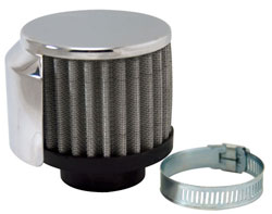 "1-1/2"" Clamp-On Filtered Breather w/Shield"