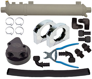Tube Style Engine & Power Steering Oil Control Kit Up To 700HP, Gen 4 BBC, Non-Thermostatic