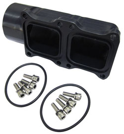 "1-1/4"" Common Inlet Blocks - Dual Stage Inlet for 3 Stage Rear Entry Sea Pump"