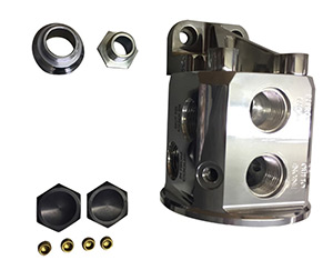 Polished Remote Bulkhead Mount ​Thermostatically Controlled Engine​ Oil Filter Mount