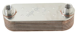 8 Plate Stainless Steel Xtreme Duty Multi-Plate Oil Cooler