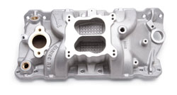 GM intake manifold, brass water