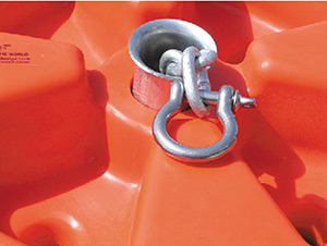 "Dock Edge Flared Galvalume Chain Collar 1-7/8"" Dia."""