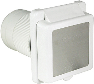 Marinco 50 Amp 125v Power Inlet With Stainless Steel Trim