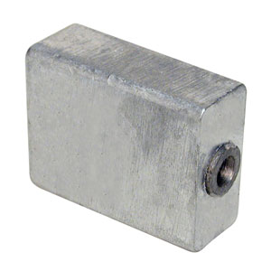 Aluminum Anode  - Midsection for 3-Cyl V8 (1985 & Up)
