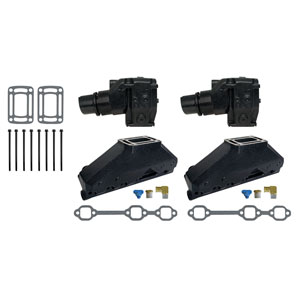 Complete Exhaust Manifold and Conversion Kit- GM V6 262 CID (1991 & Up)