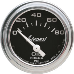 Livorsi 0-80 PSI Oil Pressure Gauge Industrial Series 2-1/16""