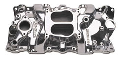 Small Block Chevy V-8 Polished Performer Manifold