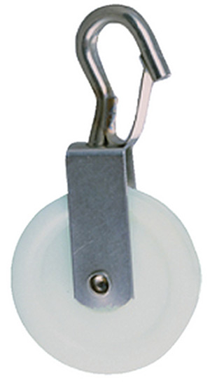 Swivel Pulley w/Snap Hook, 2/Card