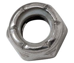 "5/16-18"" Stainless Steel Nylon Lock Nut - Half Height"
