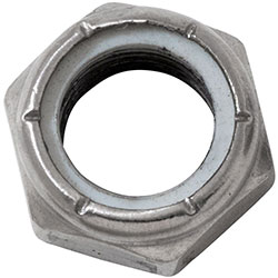 "5/8-18"" Stainless Steel Nylon Lock Nut - Half Height"