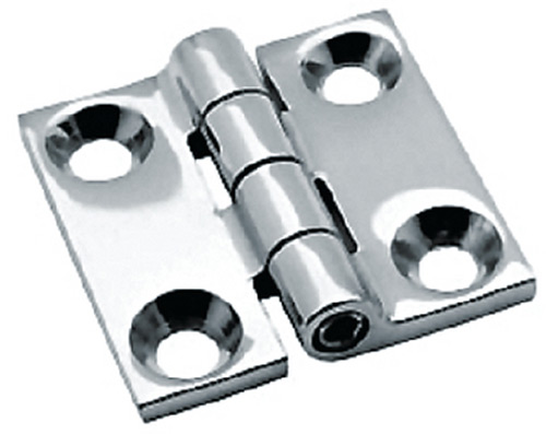 "Attwood Butt Hinge, Cast Stainless Steel, 1-1/2"" x 1-1/2"" (Pair)"""