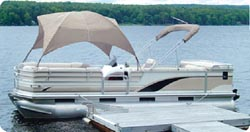 "Taylor Hot Shot Polyester Fabric Pontoon Gazebo 8' L x 102"" W and Approx. 50"" H For 96"" and 102"" Beams"""