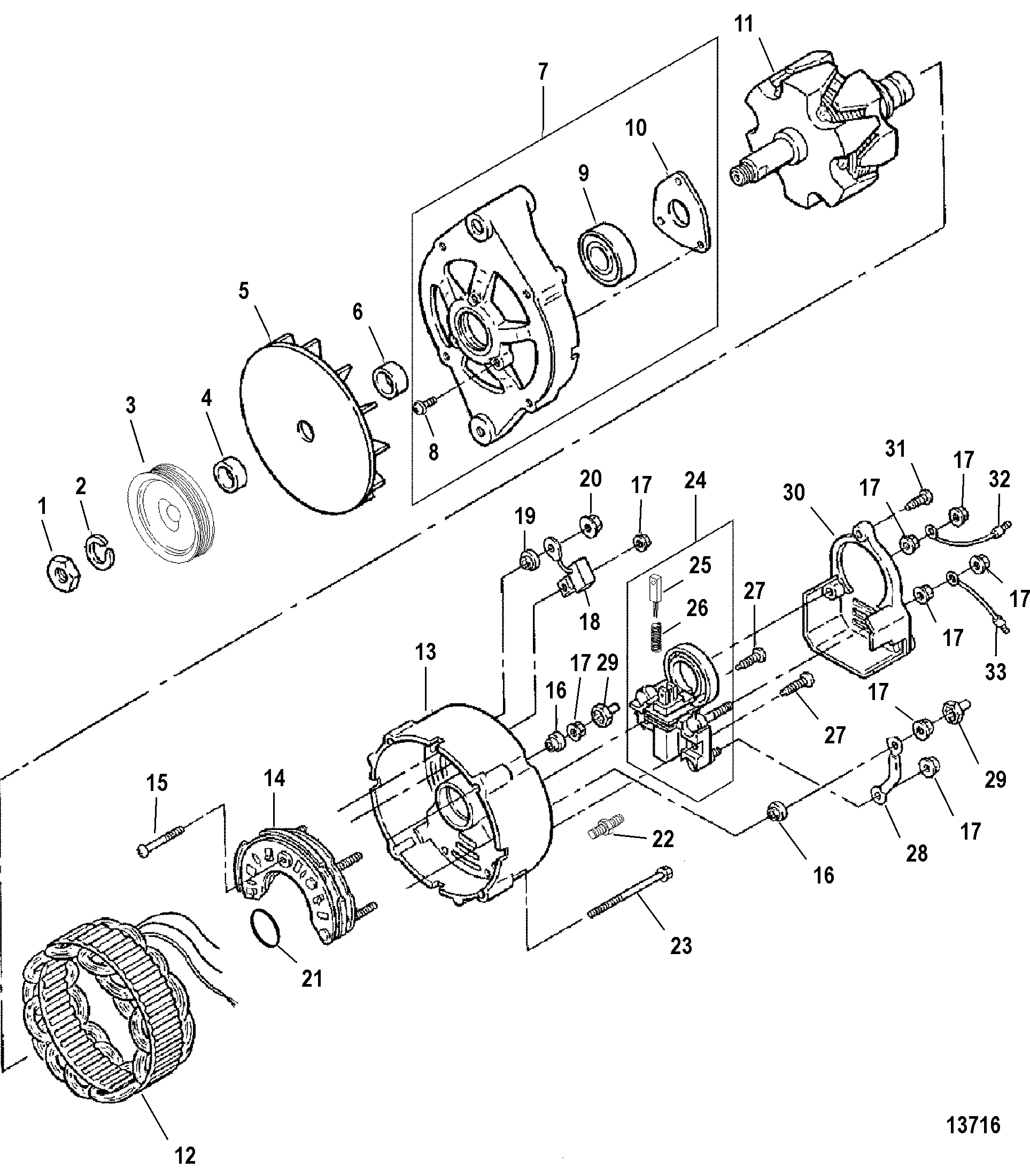 fancy mando marine alternator festooning electrical diagram ideas piotomar info Motorola Marine Alternator Wiring Diagram Marine Diesel Alternator Wiring Diagram