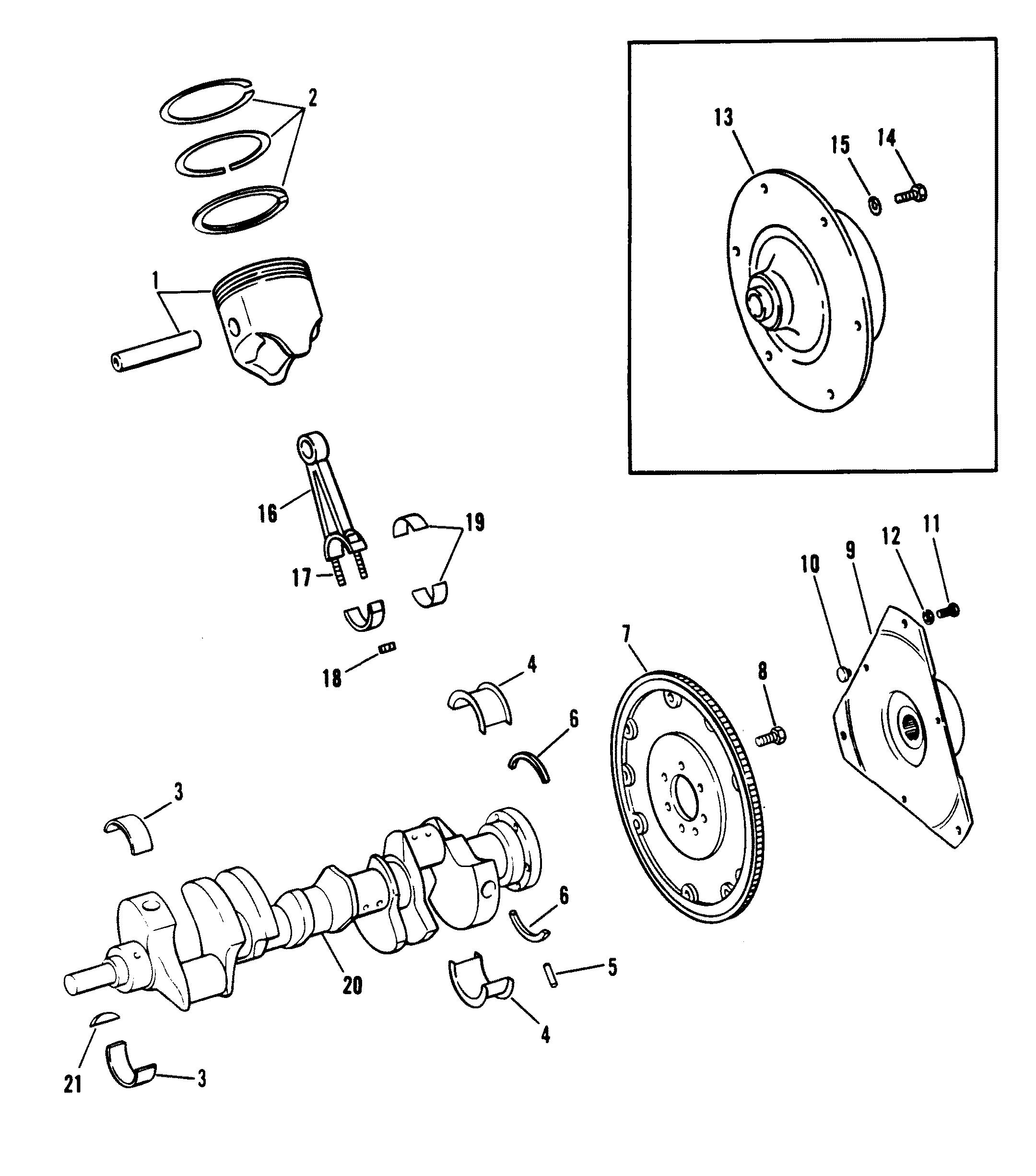 Hardin Marine - Crankshaft, Pistons And Connecting Rods