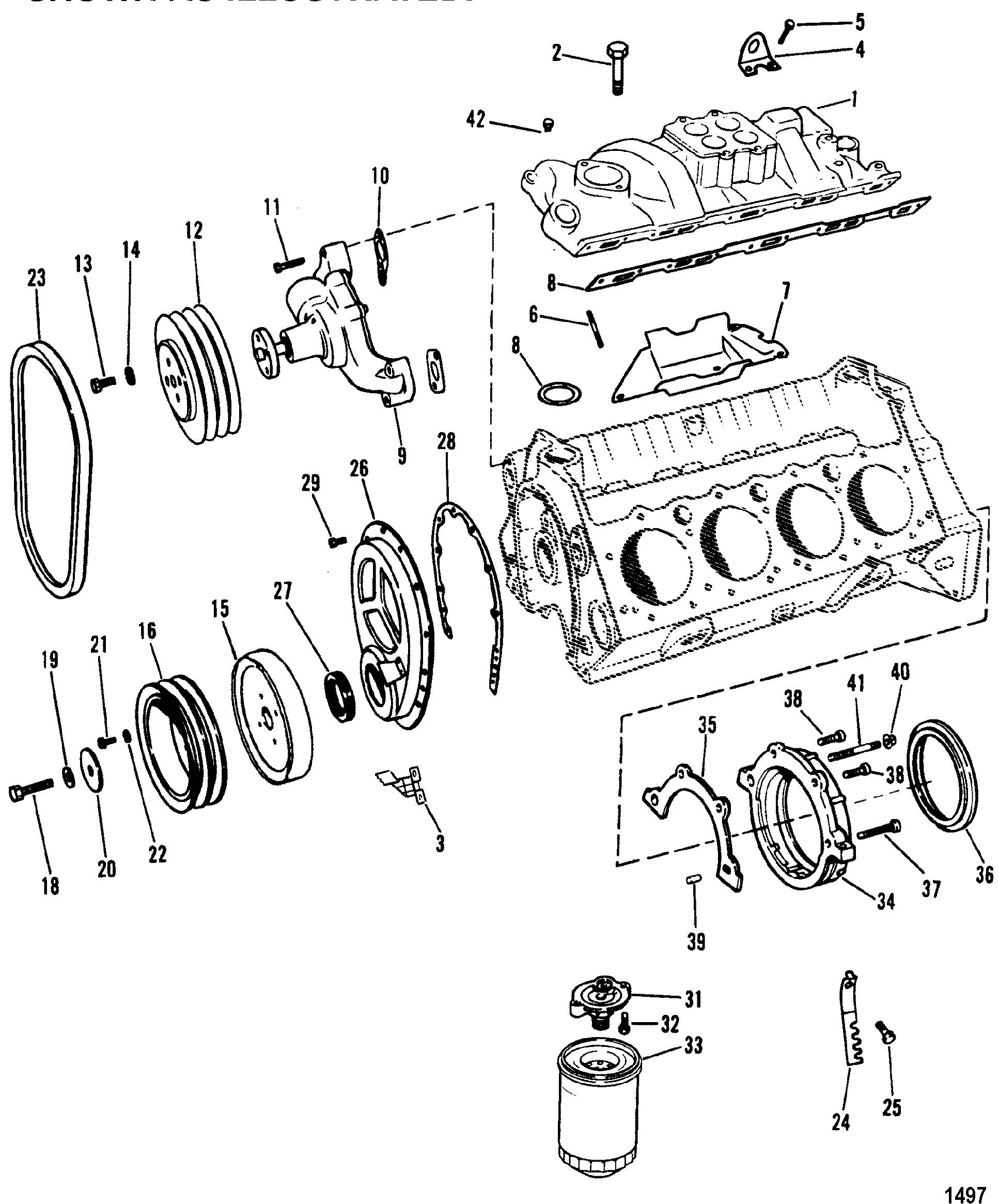 hardin marine intake manifold and front cover design i 2001 Chevy Tracker 5 7l gm 350 v 8 1988 1995 serial 0b525982 thru 0f600999 intake manifold and front cover design i