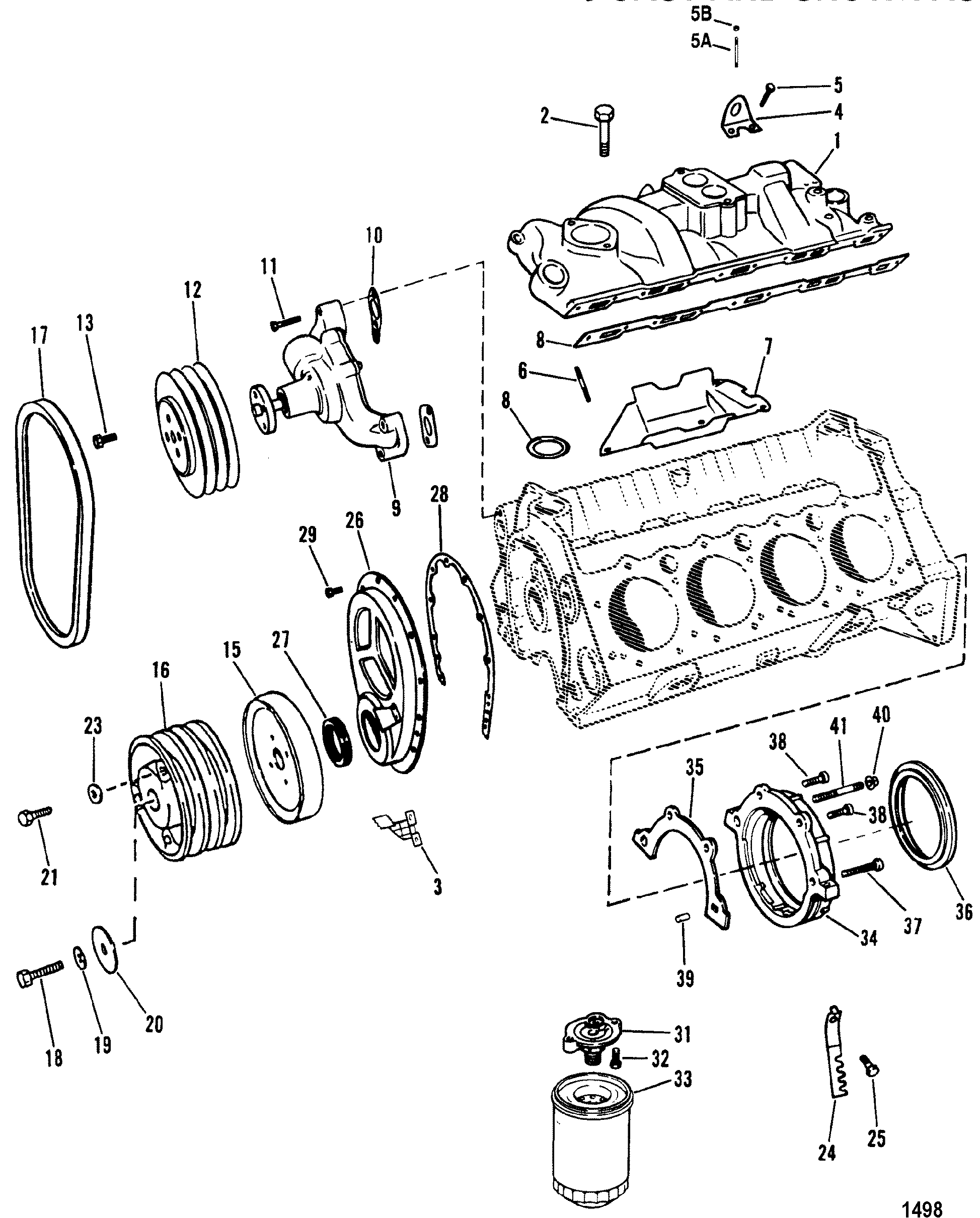 Gm 350 Carb To Engine Diagram Intake Manifold Electrical Wiring Manufold Hardin Marine And Front Cover Design Ii