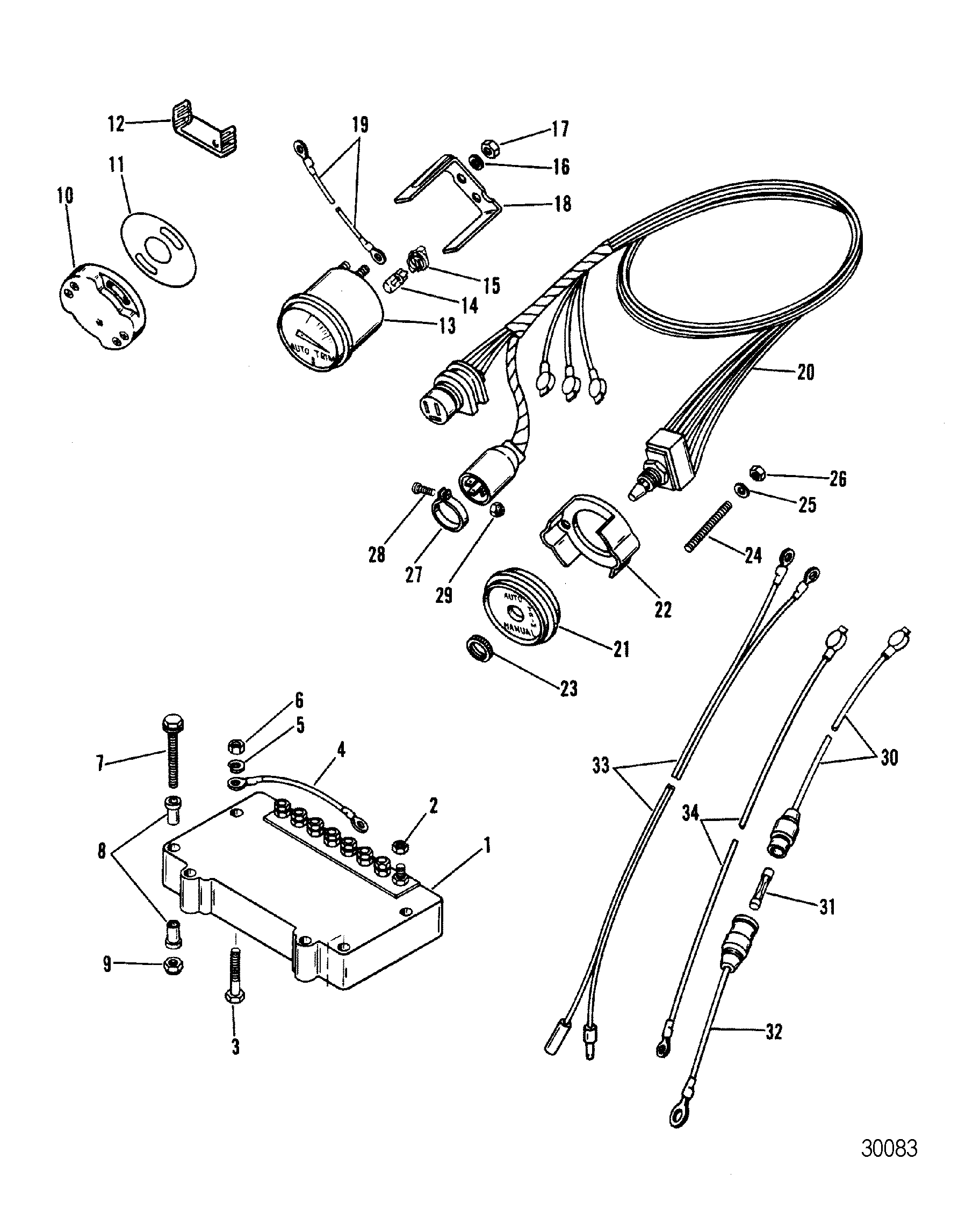 Hardin Marine Auto Trim Components Oildyne Pump Wiring Diagram Section Drawing Hover Or Click To View Larger