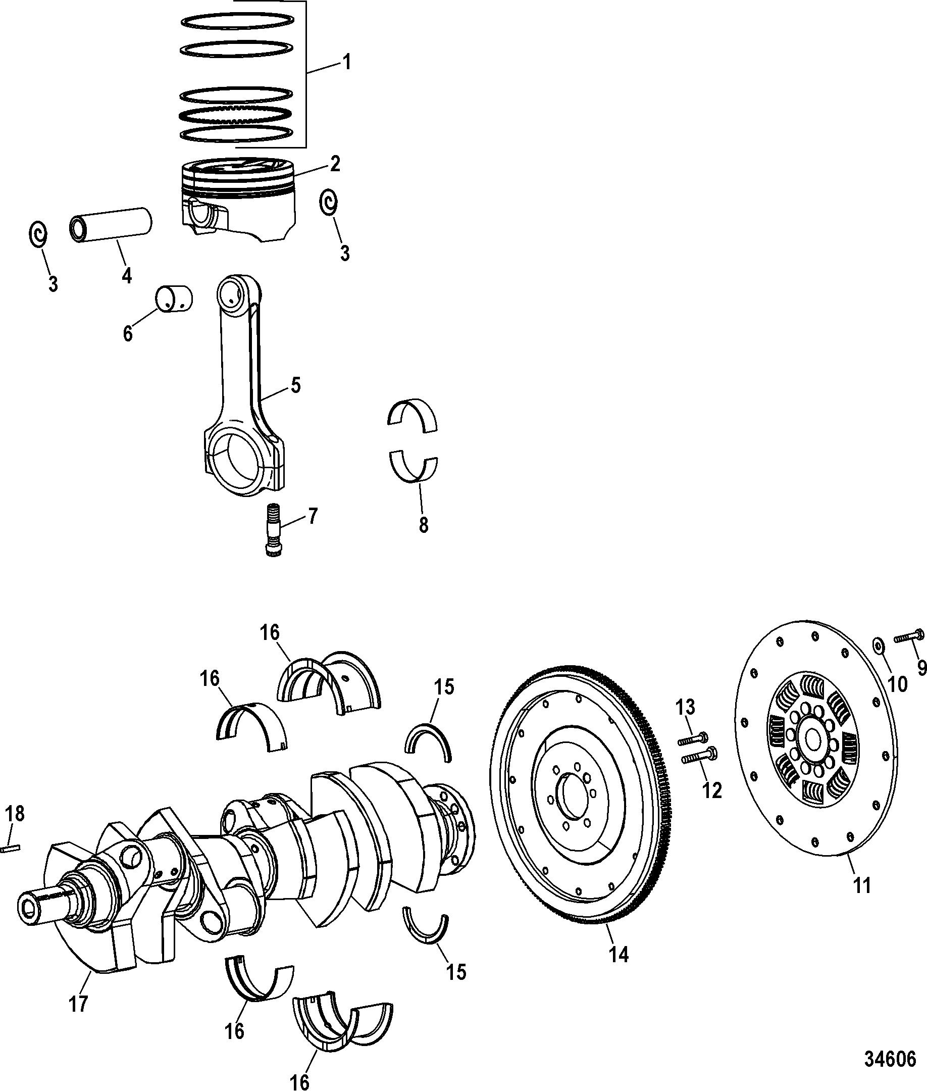 hardin marine - engine components  crankshaft