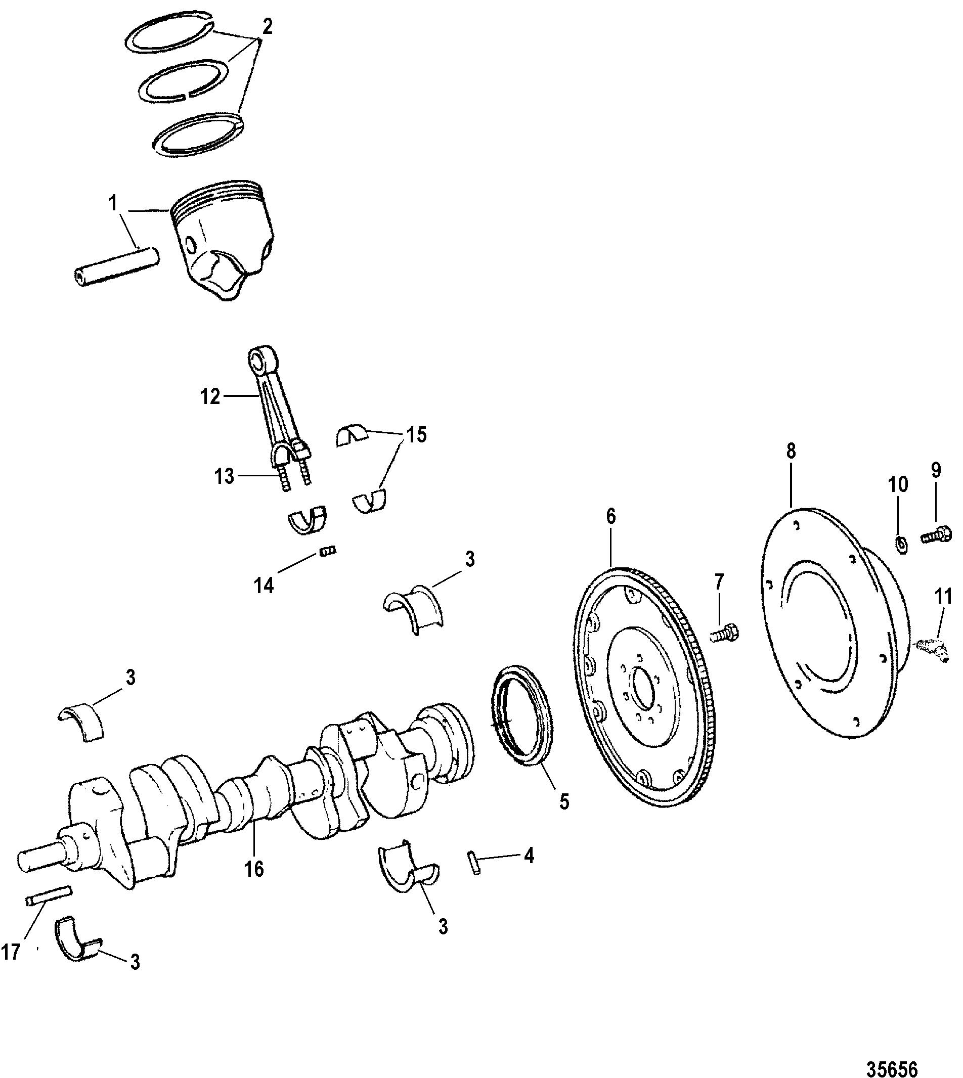 Hardin Marine - Crankshaft, Pistons And Conn  Rods