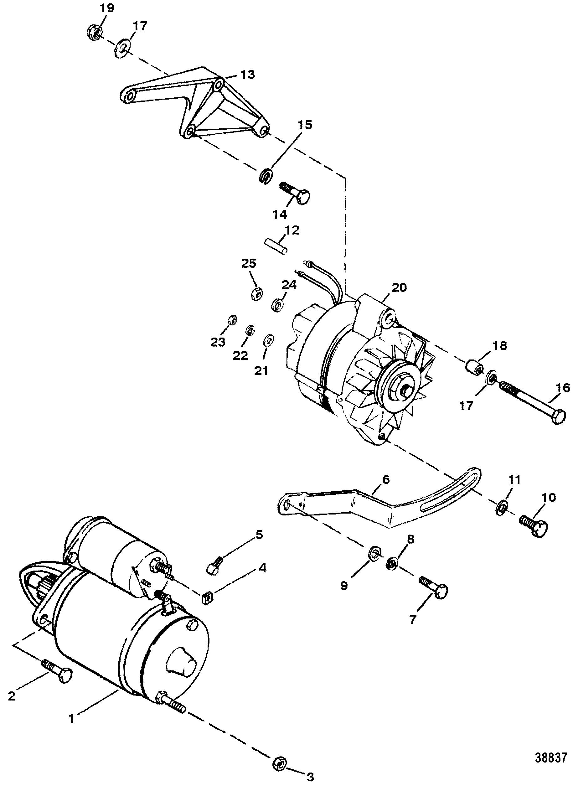 7 4l bravo (gen 5) gm 454 v-8 1992-1996 - serial 0d0603118 thru 0f800699 -  starter and alternator