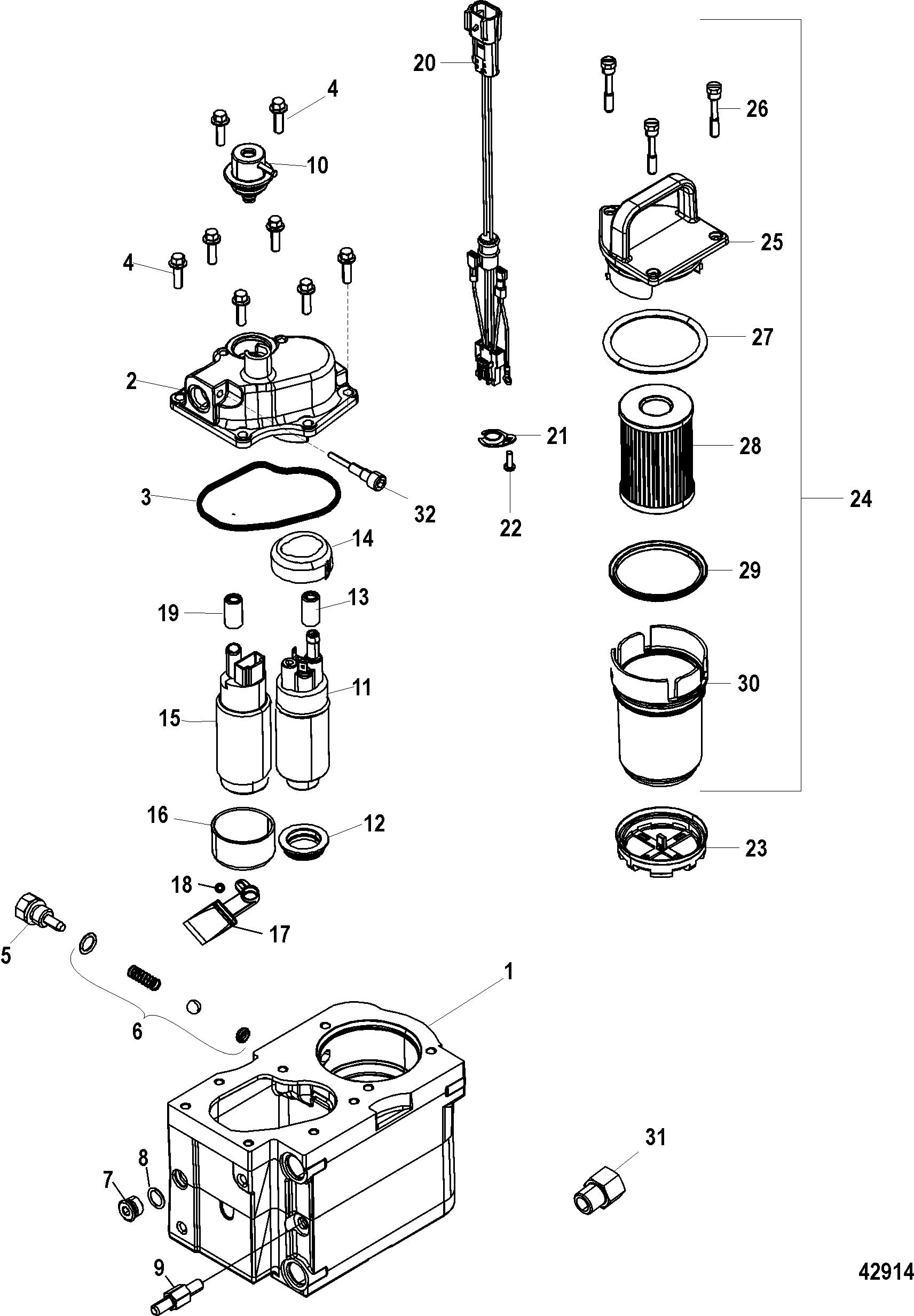hardin marine - fuel module components