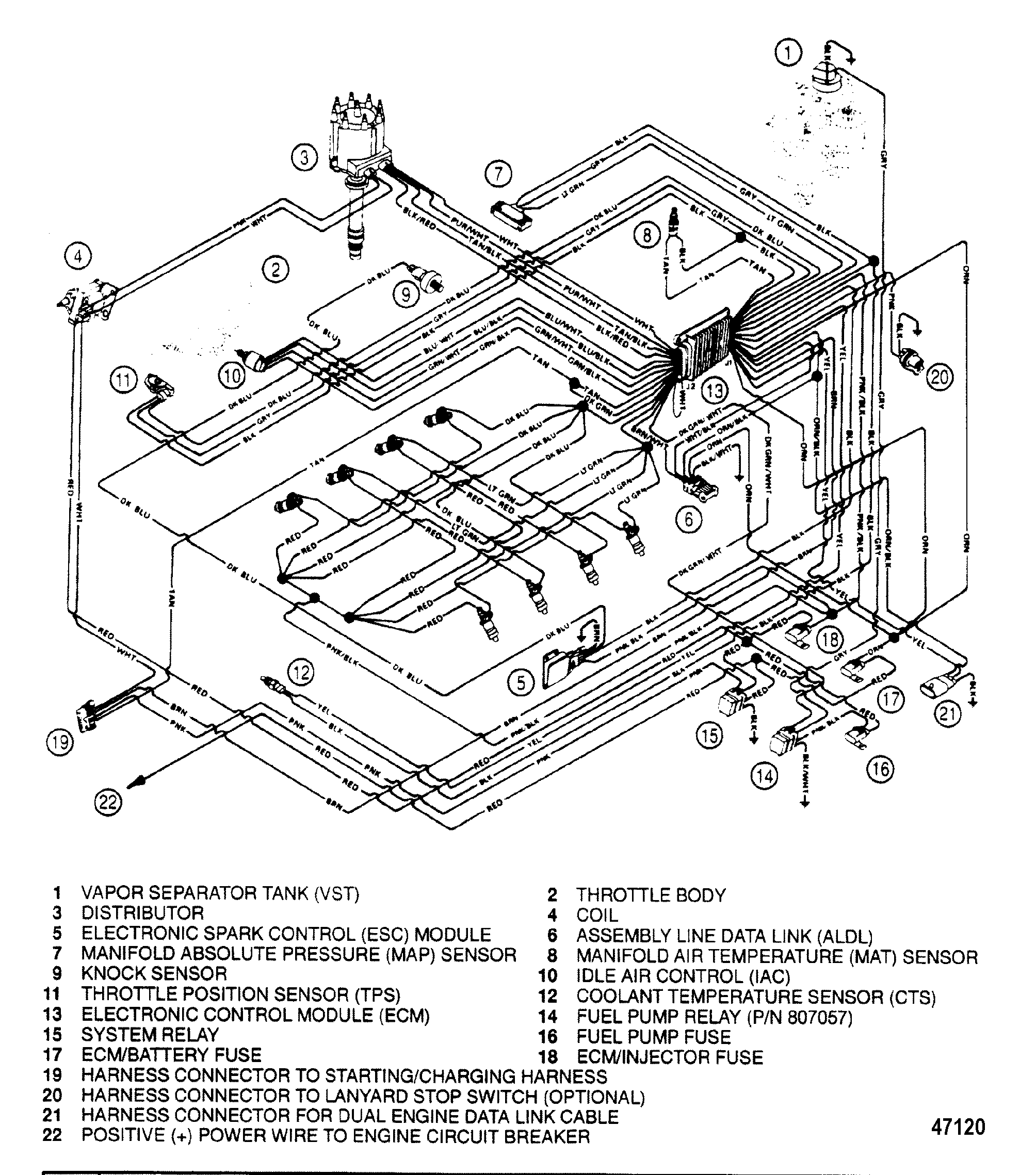 Hardin Marine Wiring Harness Efi Section Drawing Hover Or Click To View Larger