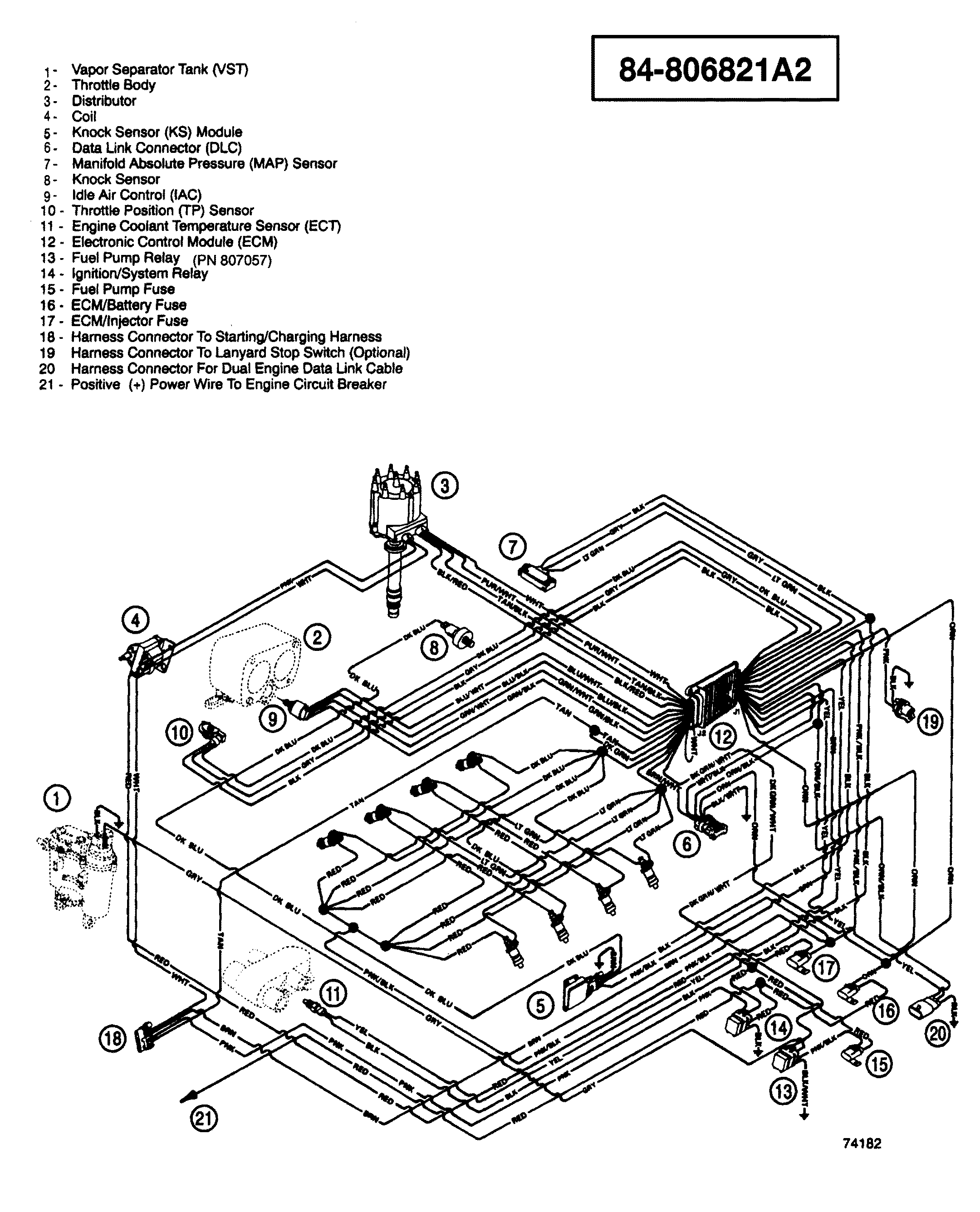 Hardin Marine Wiring Harness Efi Illustration Section Drawing Hover Or Click To View Larger