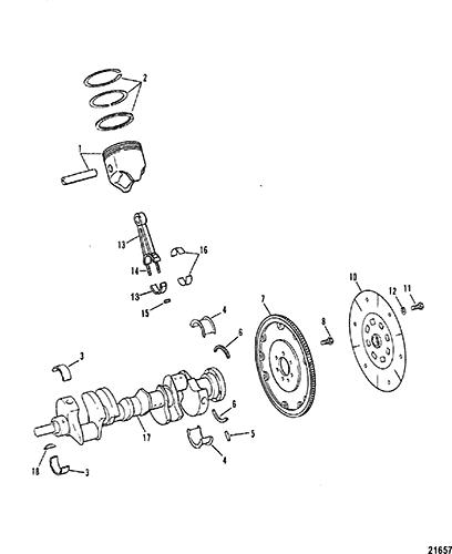 Hardin Marine Crankshaft Pistons Connecting Rods