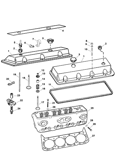 Hardin Marine - Cylinder Head And Rocker Cover (0F615830 And Up)
