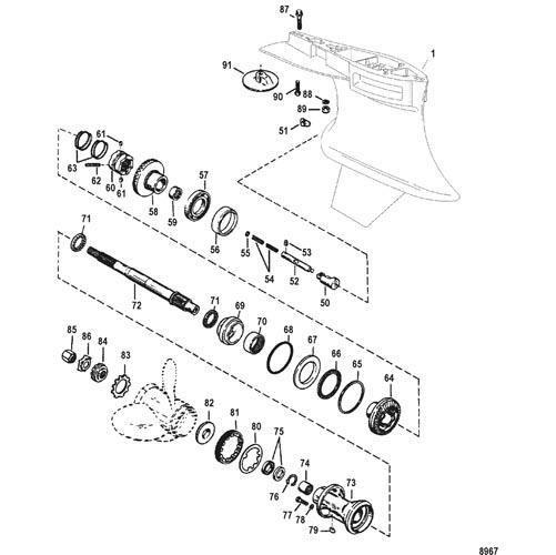 Hardin Marine - Gear Housing, Propeller Shaft-Counter