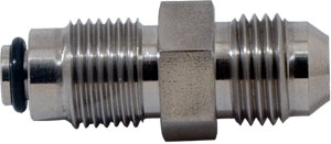 SS Straight Shuttle Valve Fitting -6 Male X 14MM X 1.50MM
