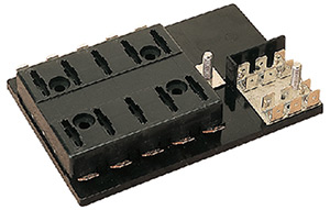 Atc Fuse Block With Ground Block, 6-Gang