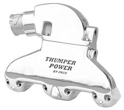 Thumper Power - Polished Small Block Exhaust System w/Shift Bracket