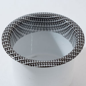 Large Cup Holder with Carbon Fiber Pattern