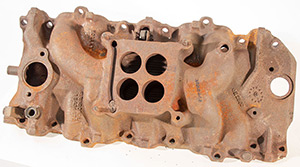 GM Intake, Oval Port BBC, Rusty