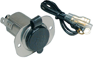 Marinco 12v Stainless Steel Receptacle With Protective Cap