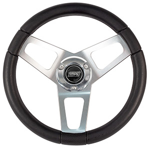 "13-1/2"" Max Papis Ovale Steering Wheel with Hub and Billet cap"