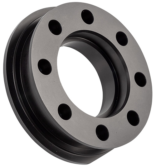 Double Drilled Billet Bearing Cap - Black Anodized