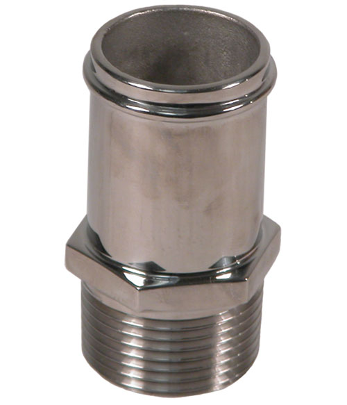 "Custom Handcrafted Stainless Fitting 1-1/4"" NPT X 1-1/4"" Hose Straight"