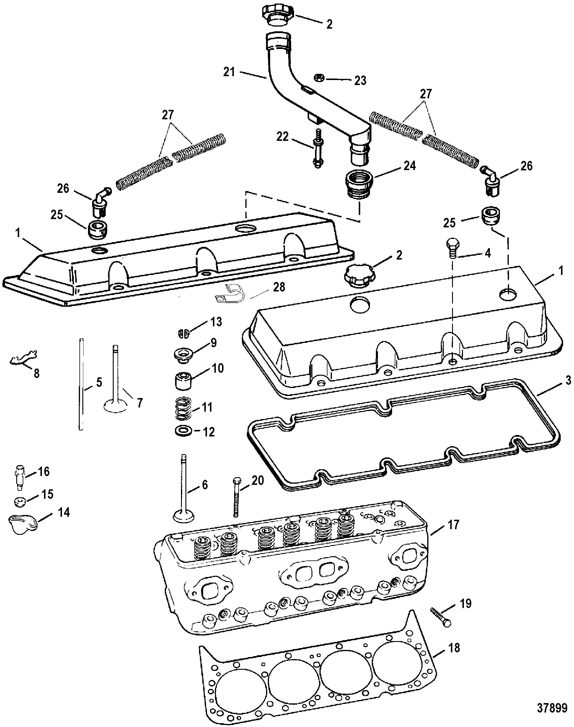 Hardin Marine - Cylinder Head And Rocker Cover (454 Magnum)Hardin Marine