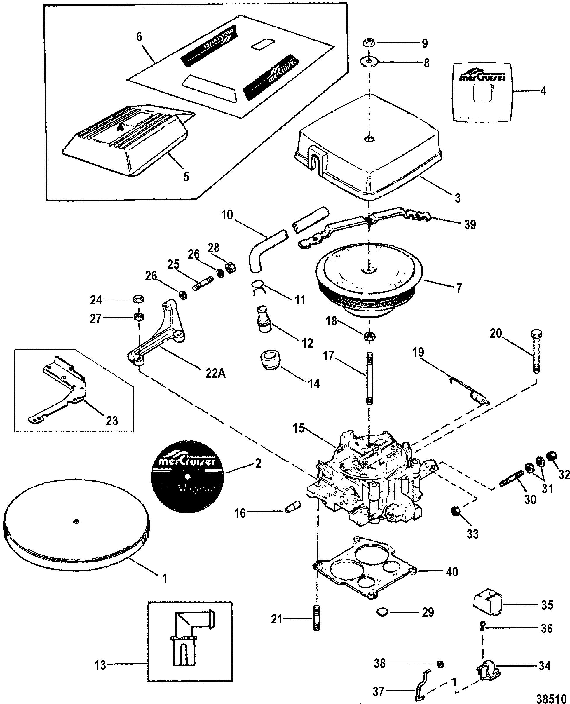 Hardin Marine - Carburetor-throttle Linkage  Rochester