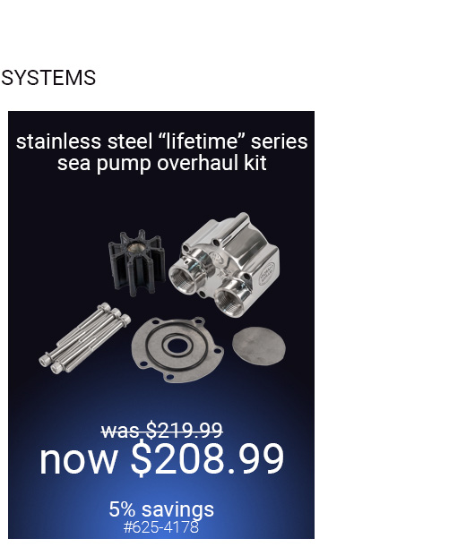 Lifetime Series Stainless Steel Sea Water Pump
